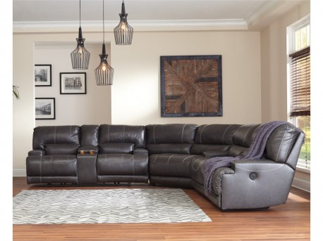 Ashley McCaskill 3pc Reclining Sectional Available Online in Dallas Fort Worth Texas