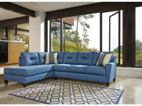 Ashley Kirwin Nuvella 2pc Left Arm Facing Corner Chaise Sectional Available Online in Dallas Fort Worth Texas