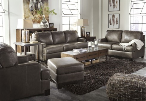 Ashley Derwood Pewter 2pc Sofa & Loveseat Set Available Online in Dallas Fort Worth Texas