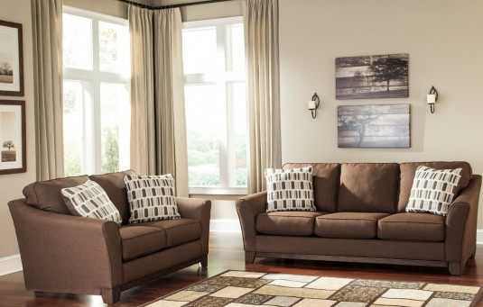 Ashley Alara Chocolate 2pc Sofa Loveseat Set Available Online In Dallas Fort Worth Texas