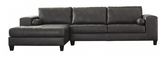 Ashley Nokomis 2pc Charcoal Left Arm Facing Chaise Sectional Available Online in Dallas Fort Worth Texas
