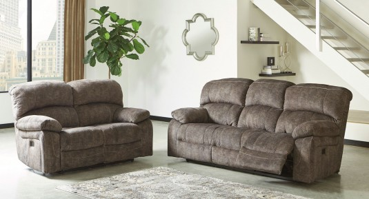 Ashley Cannelton 2pc Tri-Tone Gray Sofa & Loveseat Set Available Online in Dallas Fort Worth Texas
