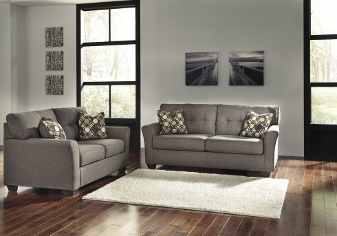 Ashley Tibbee 2pc Slate Sofa & Loveseat Set Available Online in Dallas Fort Worth Texas