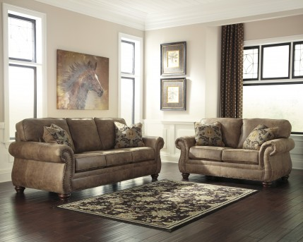 Ashley Larkinhurst 2pc Earth Sofa & Loveseat Set Available Online in Dallas Fort Worth Texas