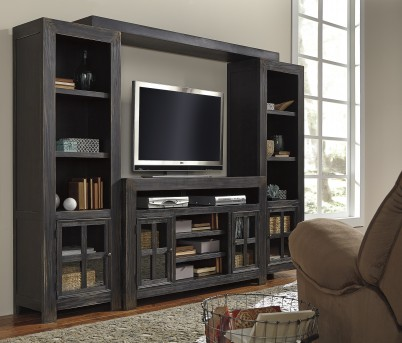 Ashley Gavelston 4pc Black Entertainment Center Available Online in Dallas Fort Worth Texas