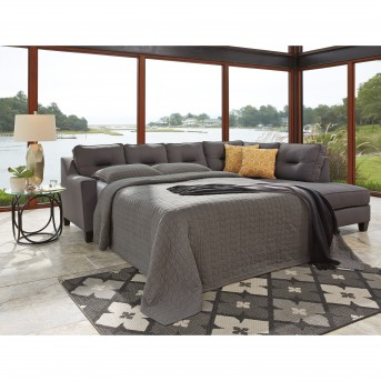 Kirwin Nuvella 2pc Gray Left Arm Facing Queen Sleeper Sofa Sectional Available Online in Dallas Fort  sc 1 st  Furniture Nation : left arm facing sectional - Sectionals, Sofas & Couches