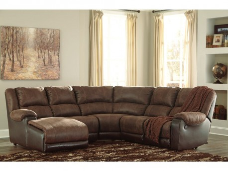 Ashley Nantahala 5pc Coffee Left Arm Facing Corner Chaise Sectional Available Online in Dallas Fort Worth Texas