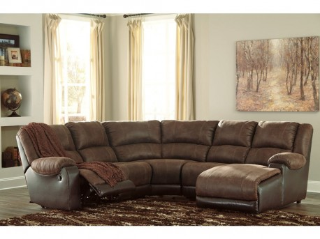 Ashley Nantahala 5pc Coffee Right Arm Facing Corner Chaise Sectional Available Online in Dallas Fort Worth Texas