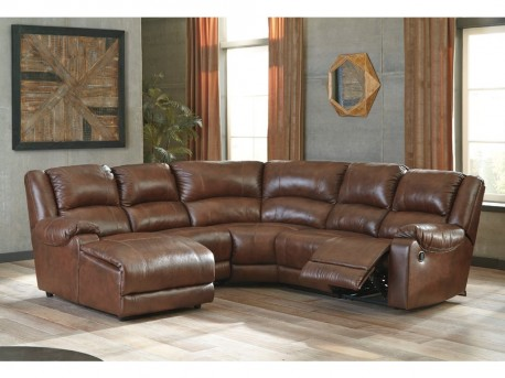 Ashley Billwedge 5pc Canyon Left Arm Facing Corner Chaise Sectional Available Online in Dallas Fort Worth Texas