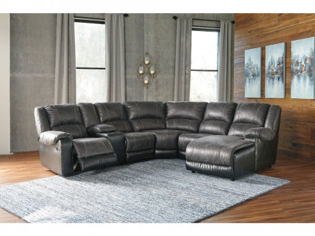 Ashley Nantahala 6pc Slate Right Arm Facing Corner Chaise Sectional Available Online in Dallas Fort Worth Texas