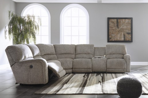 Ashley Pittsfield 4pc Fossil Right Arm Facing Loveseat Sectional Available Online in Dallas Fort Worth Texas