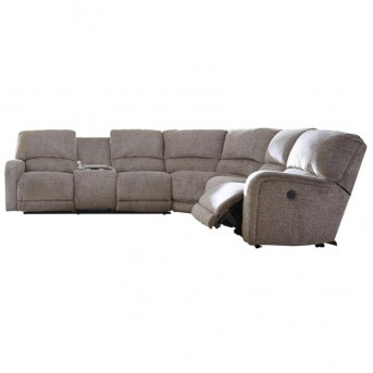 Ashley Pittsfield 4pc Fossil Left Arm Facing Loveseat Sectional Available Online in Dallas Fort Worth Texas