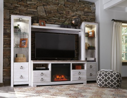 Ashley Willowton 4pc Entertainment Center Available Online in Dallas Fort Worth Texas
