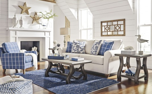 Ashley Tanobay 3pc Gray Coffee Table Set Available Online in Dallas Fort Worth Texas