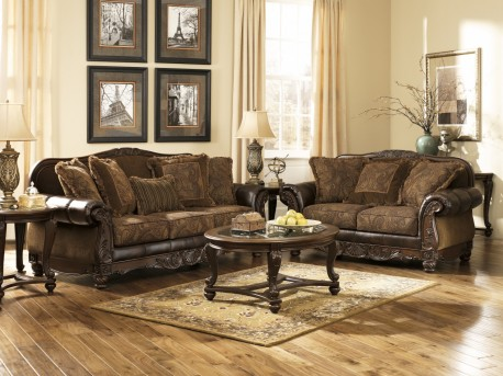Ashley Norcastle Dark Brown 3pc Coffee Table Set Available Online in Dallas Fort Worth Texas