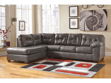 Ashley Alliston DuraBlend Grey 2pc Left Arm Facing Corner Chaise Sectional Available Online in Dallas Fort Worth Texas
