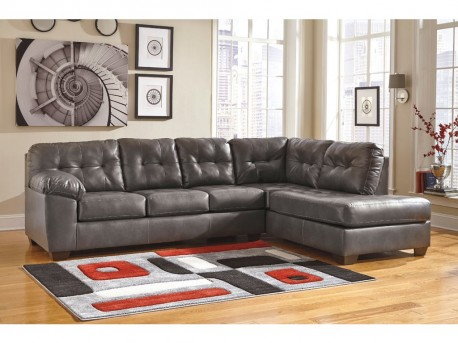 Ashley Alliston DuraBlend Grey 2pc Right Arm Facing Corner Chaise Sectional Available Online in Dallas Fort Worth Texas