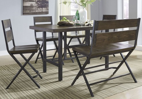 Kavara 6pc Medium Brown Counter Height Dining Room Set Available Online In Dallas Fort Worth Texas