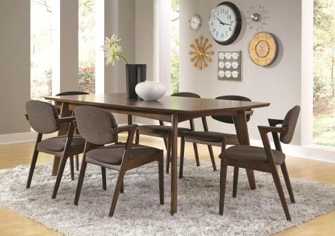 Coaster Malone 7pc Dark Walnut Dining Table Set Available Online in Dallas Fort Worth Texas
