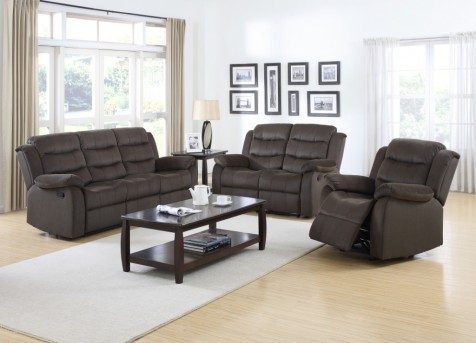 Coaster Rodman 2pc Chocolate Sofa & Loveseat Set Available Online in Dallas Fort Worth Texas