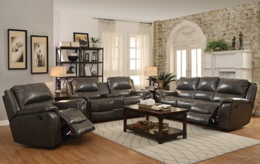 Coaster Wingfield 2pc Charcoal Power Sofa & Loveseat Set Available Online in Dallas Fort Worth Texas