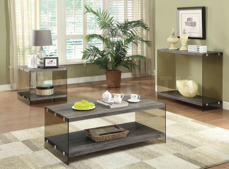Coaster Salbind 3pc Grey Coffee Table Set Available Online in Dallas Fort Worth Texas