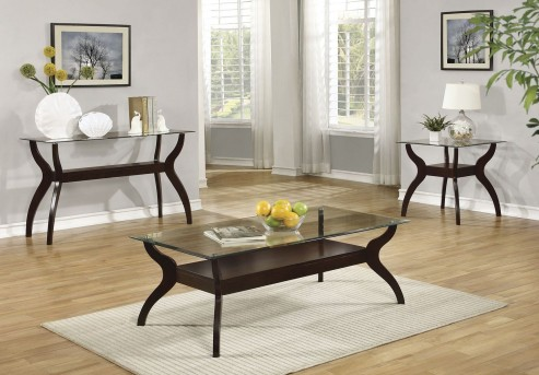 Coaster Manto 3pc Cappuccino Coffee Table Set Available Online in Dallas Fort Worth Texas