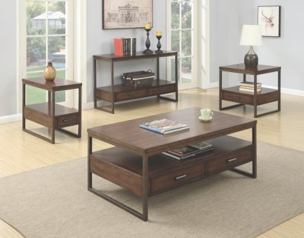Coaster Sabool 3pc Brown Coffee Table Set Available Online in Dallas Fort Worth Texas