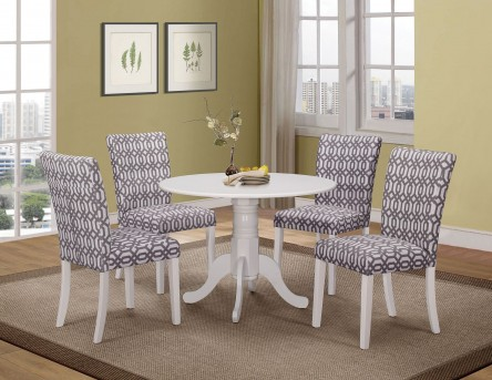 Coaster Allston 5pc White Dining Table Set Available Online in Dallas Fort Worth Texas