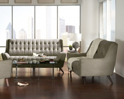 Coaster Natalia 2pc Grey Sofa and Loveseat Set Available Online in Dallas Fort Worth Texas
