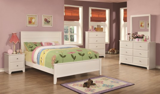 Coaster Ashton 5pc White Twin Bedroom Group Available Online in Dallas Fort Worth Texas