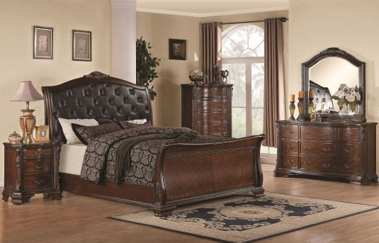 Coaster Maddison 5pc Cal King Sleigh Bedroom Group Available Online in Dallas Fort Worth Texas
