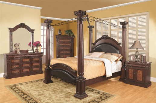 Coaster Grand Prado Cal King 5pc Canopy Bedroom Group Available Online in Dallas Fort Worth Texas