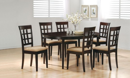 Coaster Hyde Oval 7pc Wheat Back Dining Room Set Available Online in Dallas Fort Worth Texas