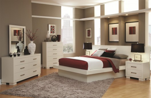 Coaster Jessica White 5pc Cal King Bedroom Group Available Online in Dallas Fort Worth Texas