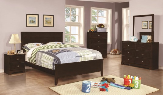 Coaster Ashton 5pc Cappuccino Twin Bedroom Group Available Online in Dallas Fort Worth Texas