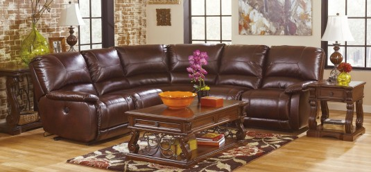 Ashley Alymere 3pc Dark Brown Coffee Table Set Available Online in Dallas Fort Worth Texas