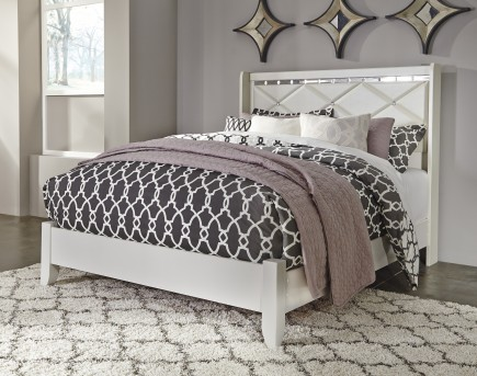 Ashley Dreamur Champagne Queen Panel Bed Available Online in Dallas Fort Worth Texas