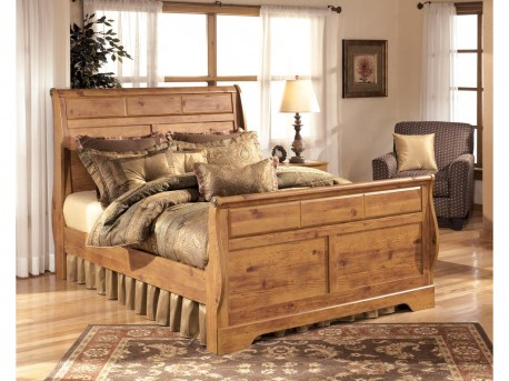 Ashley Bittersweet Queen Sleigh Bed Available Online in Dallas Fort Worth Texas