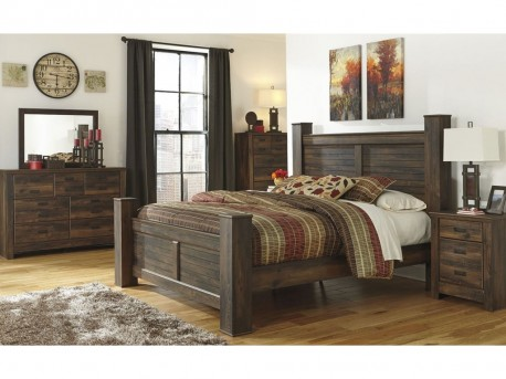 Ashley Quinden 5pc King Poster Bedroom Group Available Online in Dallas Fort Worth Texas