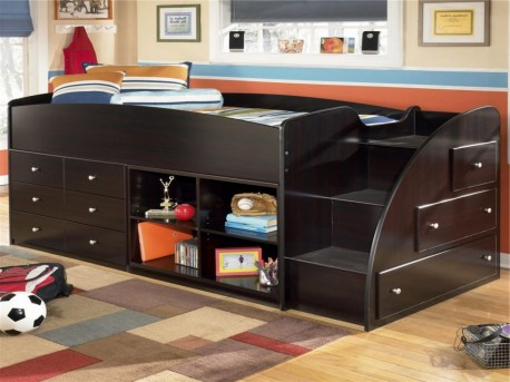 Ashley Embrace Right Storage Step with Loft End Bunk Bed Available Online in Dallas Fort Worth Texas