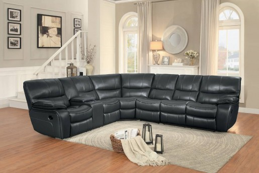 Homelegance Pecos 4pc Grey Loveseat Sectional Available Online in Dallas Fort Worth Texas