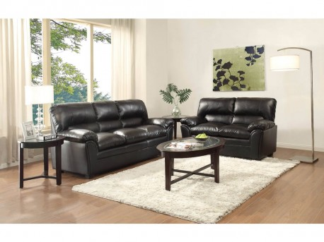 Homelegance Talon 2pc Black Sofa U0026 Loveseat Set Available Online In Dallas  Fort Worth Texas