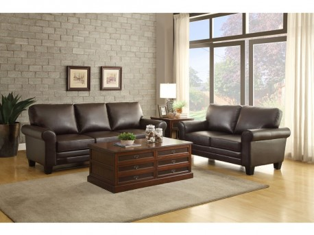 Hume 2pc Dark Brown Sofa Loveseat Set Available Online In Dallas Fort Worth Texas