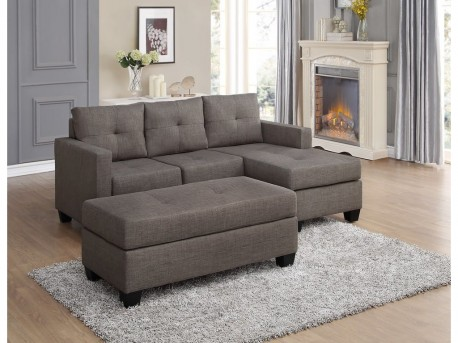 Homelegance Phelps 2pc Brown-Gray Sofa Chaise Sectional Available Online in Dallas Fort Worth Texas