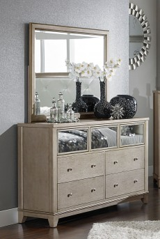Homelegance Odelia Silver Mirror Available Online in Dallas Fort Worth Texas