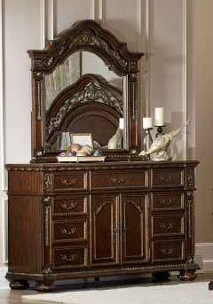 Homelegance Catalonia Cherry Dresser Available Online in Dallas Fort Worth Texas