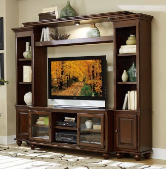 Homelegance Lenore 4pc Cherry Wall Unit Available Online in Dallas Fort Worth Texas