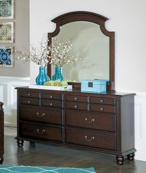 Homelegance Frederica Cherry Mirror Available Online in Dallas Fort Worth Texas