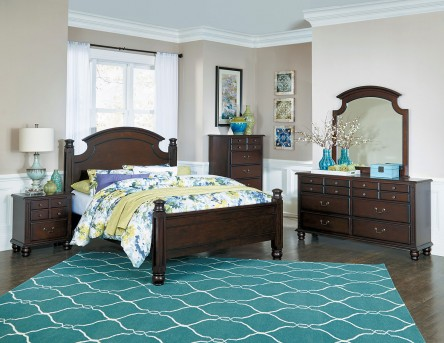 Homelegance Frederica 5pc Cherry King Bedroom Group Available Online in Dallas Fort Worth Texas